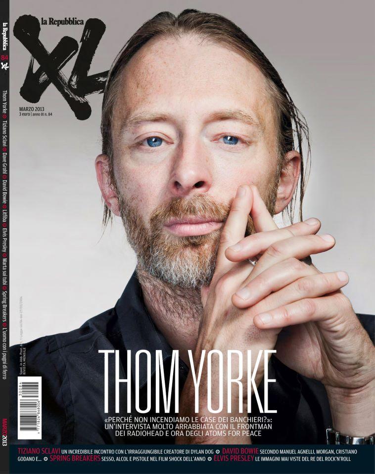 Ton Yorke dei Radiohead, in una copertina di XL di